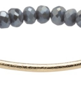 Crystal Bar Bracelet Grey
