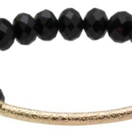 Crystal Bar Bracelet Black