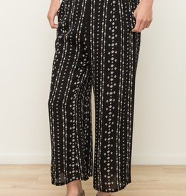 Crop High Waist Pull-On Pant