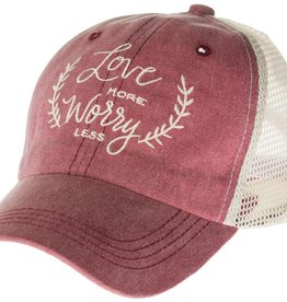 """Trucker Hat """"Love More Worry Less"""""""