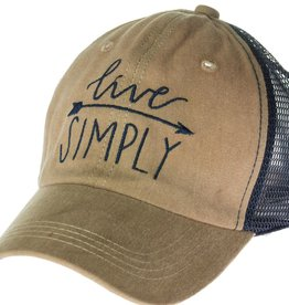 """Trucker Hat """"Live Simply"""""""