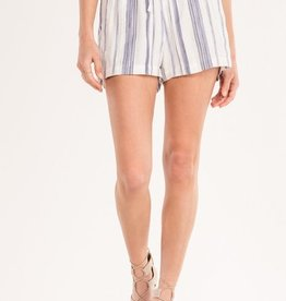Miss Me Along These Lines Drawstring Striped Shorts