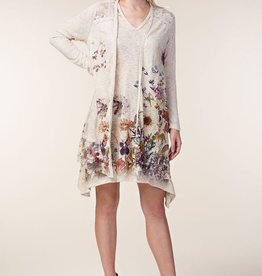 Sublimation Long Sleeve Cardigan with Lace