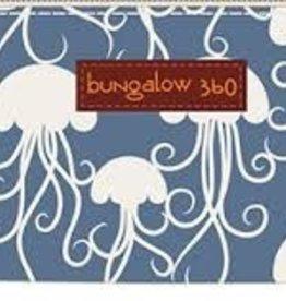 Bungalow 360 Convas Zip Around Wallet Jellyfish
