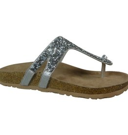 Not Rated BECCA Molded Footbed Silver Sandal