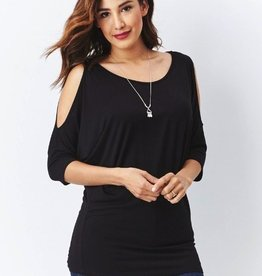 Rayon Anything BUT Basic Cold-Shoulder Dolman Top
