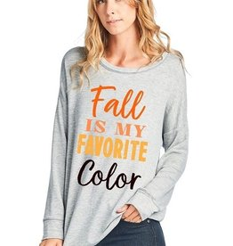 Fall Is My Favorite Color Long Sleeve Top