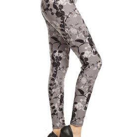 Floral Print Leggings Buttery Soft ONE SIZE