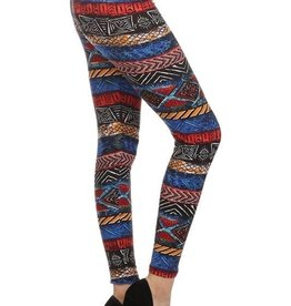 Tribal Border Print Leggings Buttery Soft ONE SIZE