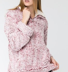 Soft and Fluffy Two Tone Mock Neck Pull Over