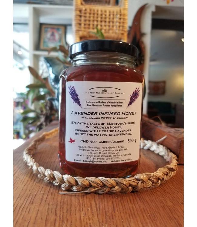John Russell Lavender Infused Honey 500g