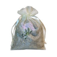 Organza Sachet with Flowers