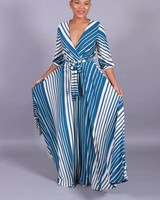 Striped Mode Maxi Dress