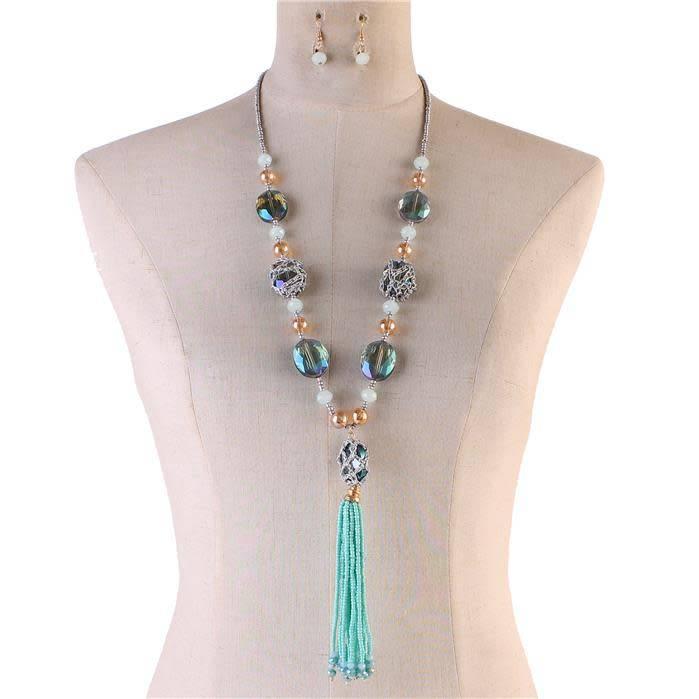 fresh catch necklace set mint jadazzles