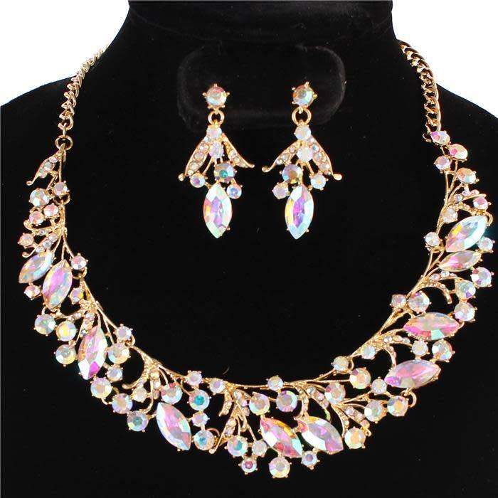 vine necklace set iridescent jadazzles
