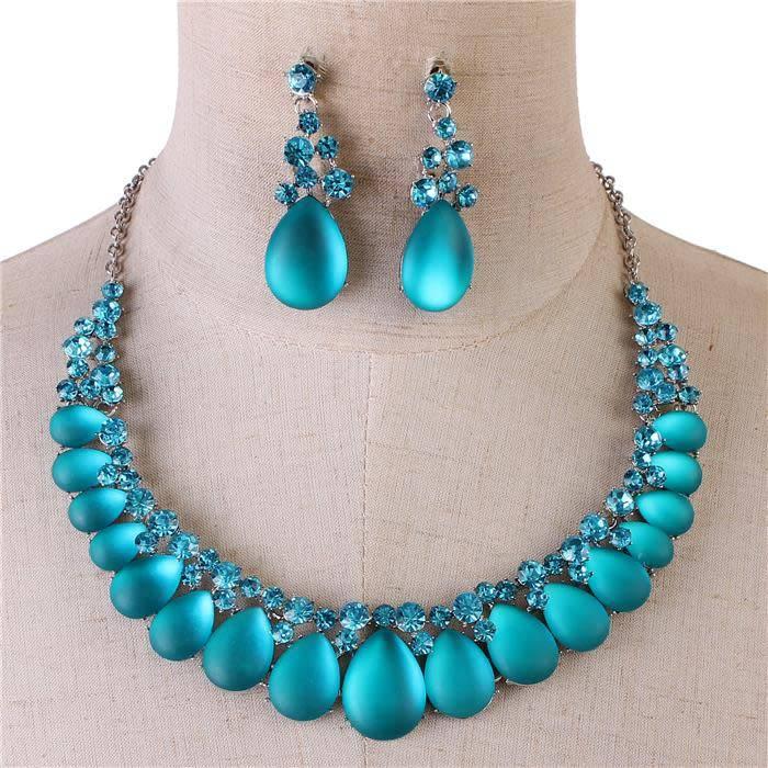 jewels necklace set aqua jadazzles