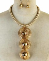 Saturn Rings Necklace Set