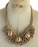 Trapped Bomb Necklace Set