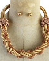 Intertwined Necklace Set