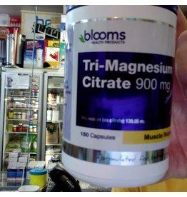 Blooms Blooms Tri-Magnesium Citrate 900mg   150 caps