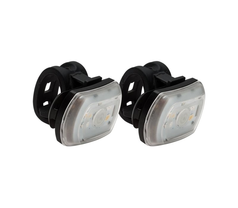 BlackBurn 2FER USB Front/Rear Light 2-Pack, Black