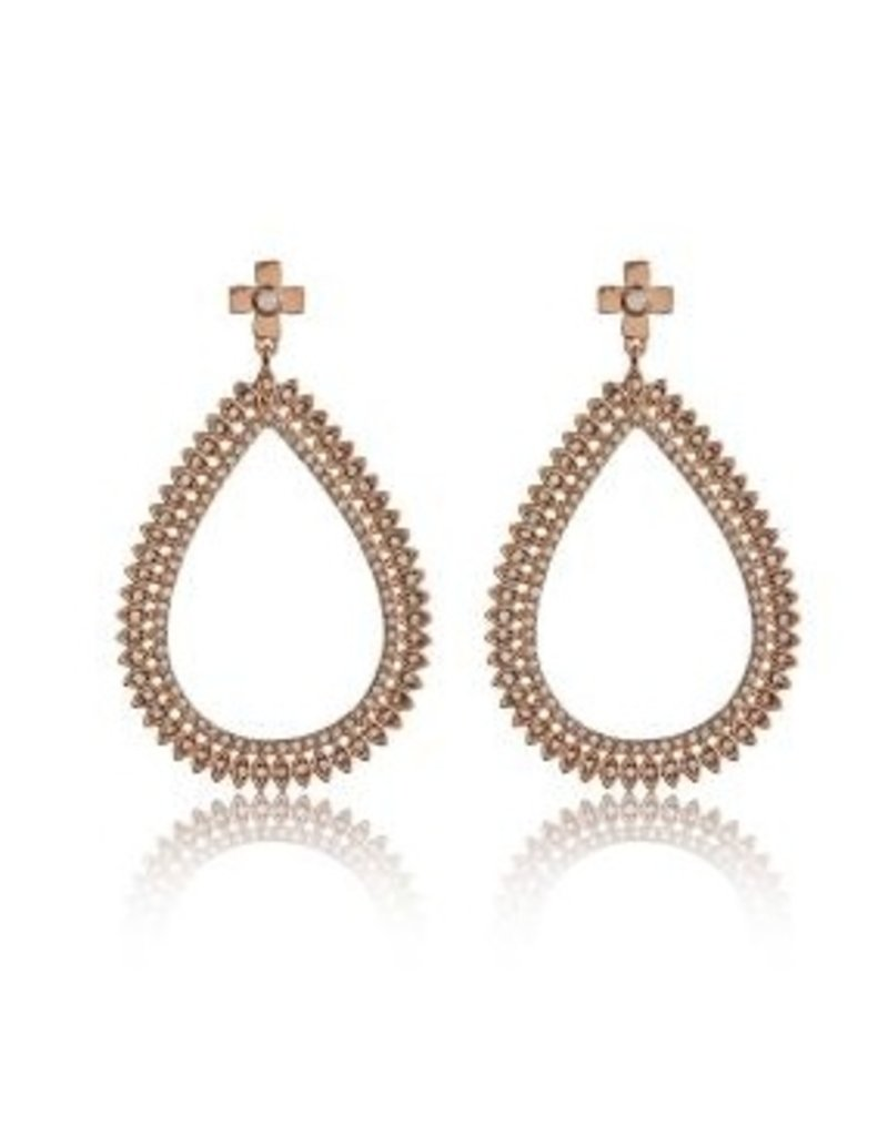 gold pave luv p antique earrings luva scattered spike w choker thread women aj