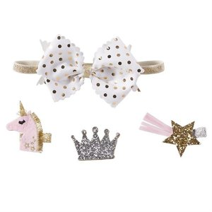 Mud Pie 3 IN 1 UNICORN BOW SET
