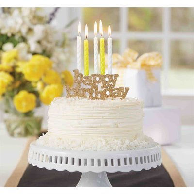 Mud Pie HAPPY BDAY CANDLE HOLDER
