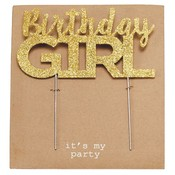 Mud Pie BIRTHDAY GIRL CAKE TOPPER