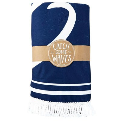 Mud Pie WAVES BEACH BLANKET