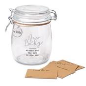 Mud Pie NEW BABY SENTIMENT JAR