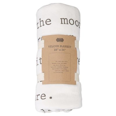 Mud Pie FIREFLIES SHERPA BLANKET