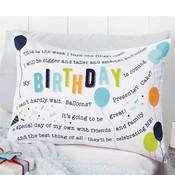 Mud Pie BIRTHDAY BOY PILLOWCASE