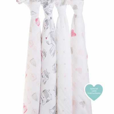 aden+anais Lovebird 4-Pack Classic Swaddles