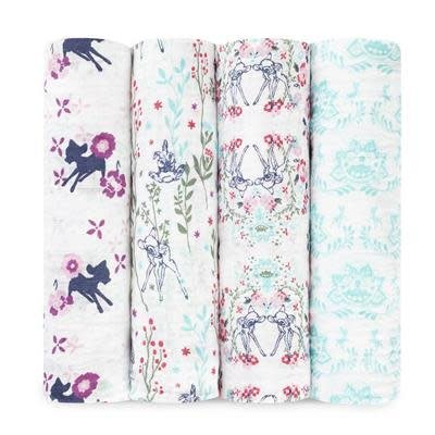 aden+anais bambi 4-pack disney baby classic swaddles