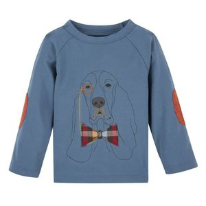ANDY & EVAN Long Sleeve Graphic Blue Hound Tee