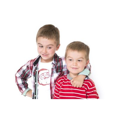 ANDY & EVAN Xmas Plaid Shirtzie