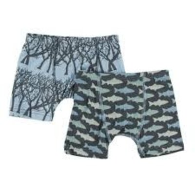 Kickee Pants Boxer Briefs Set Pond Fireflies & Stone Trout