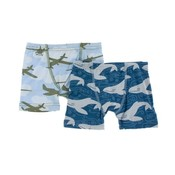 Kickee Pants Boxer Briefs Pond Airplanes & Twilight Whale