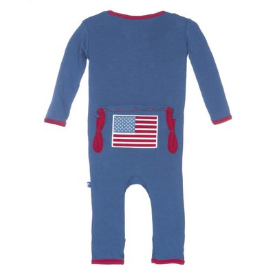 Kickee Pants Twilight American Flag Fitted Coverall
