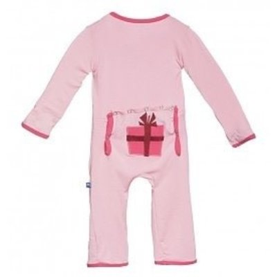 Kickee Pants Lotus Present Fitted Applique Coverall