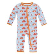 Kickee Pants Print Coverall with Zipper (Pond Camper)