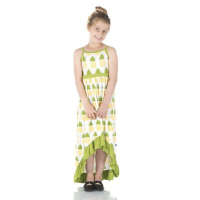 Kickee Pants Print Hi Lo Maxi Dress (Natural Pineapple)