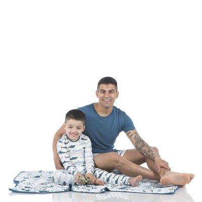 Kickee Pants Print Long Sleeve Pajama Set (Natural Megalodon)