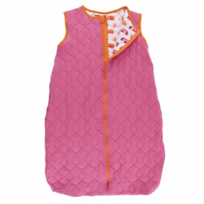 Kickee Pants Print Quilted Sleeping Bag (Flamingo with Natural Camper)
