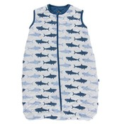 Kickee Pants Print Quilted Sleeping Bag (Natural Megalodon with Twilight)