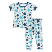 Kickee Pants Print Short Sleeve Pajama Set (Confetti Star)