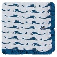 Kickee Pants Print Ruffle Toddler Blanket (Natural Mermaid - One Size)
