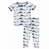 Kickee Pants Print Short Sleeve Pajama Set (Natural Mermaid)