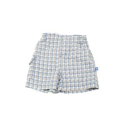 Kicky Pants BLUE CHECKER SHORT.5T